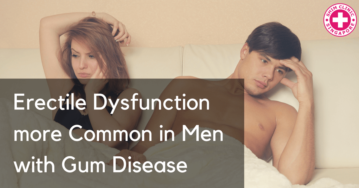 Erectile Dysfunction more Common in Men with Gum Disease